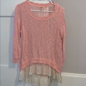 Mossimo Pink Sweated